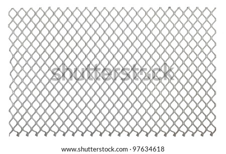 Metal net isolated on a white background - stock photo
