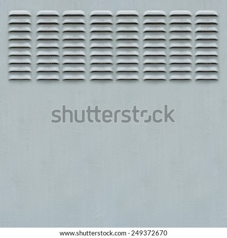 Metal Panel with Ventilation Grill - stock photo