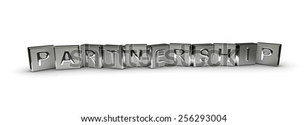 Metal Partnership Text - stock photo