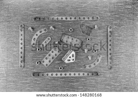 metal parts for construction - stock photo
