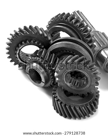 metal parts gear isolated on white background