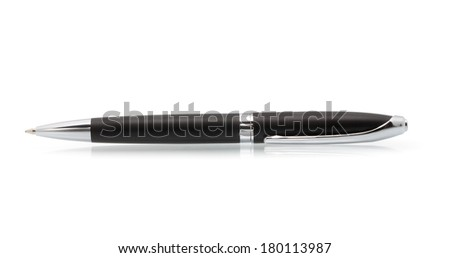 metal pen isolated on white background