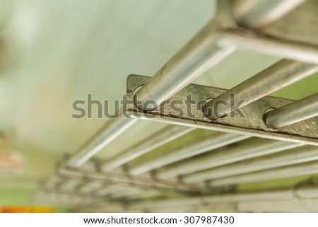 Metal pipes for industry background. - stock photo