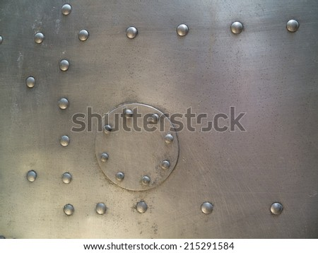 metal plate and rivets