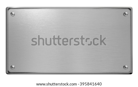 metal plate frame isolated