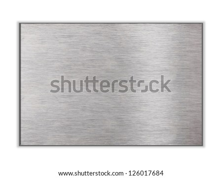 Metal plate isolated on white - stock photo