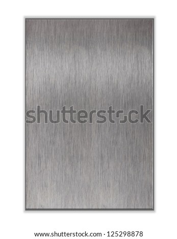 Metal plate on white background - stock photo
