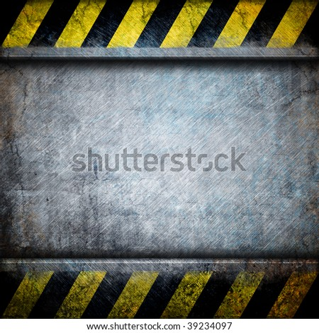 metal plate (open) - stock photo