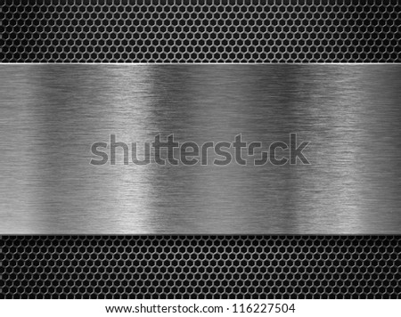 metal plate over comb grate - stock photo