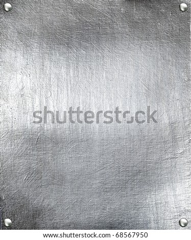Metal plate steel background. - stock photo