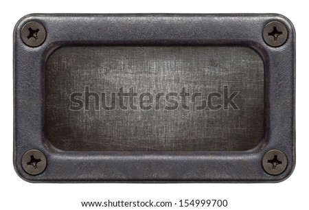 Metal plate texture in a frame - stock photo