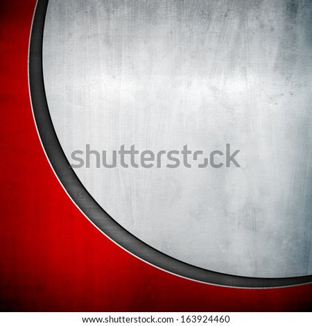 metal plate with curve pattern - stock photo