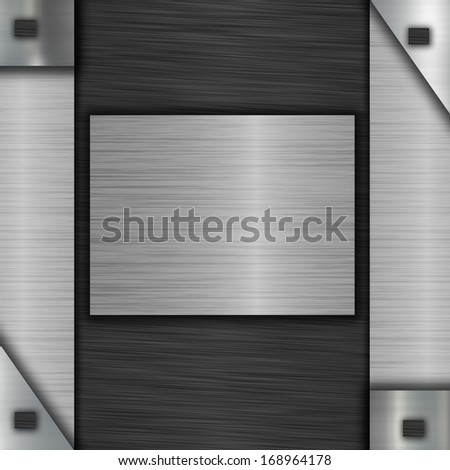 metal plate with place for text or photo - stock photo