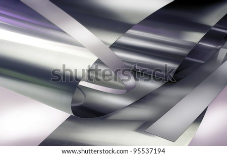Metal plates illustration. - stock photo