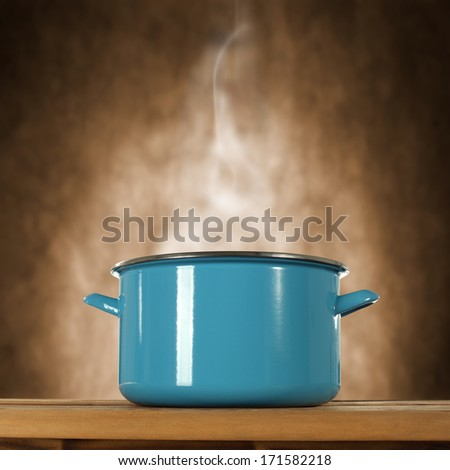 metal pot  - stock photo