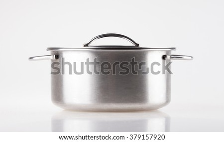 metal pot on a white background