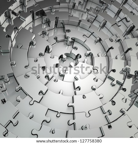 Metal puzzle background - stock photo