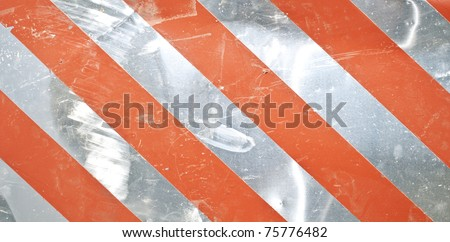 Metal red stripe background - stock photo