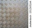 metal ribbed surface - stock photo