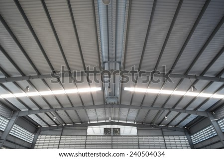 metal roofing - stock photo