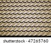 Metal roofing material, closeup - stock photo