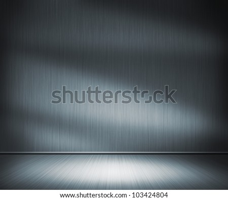 Metal Room Background - stock photo