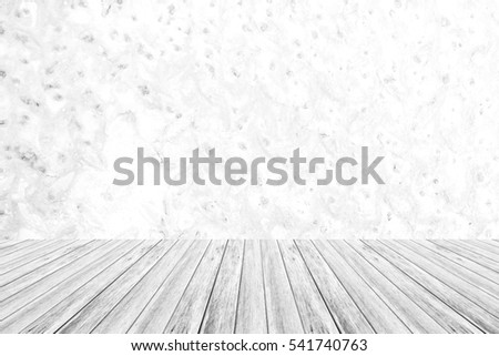 Metal rust wall texture background surface natural color , process in white color with wood terrace