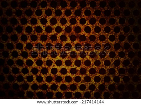 metal rusty mesh background, grunge background - stock photo
