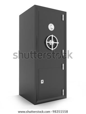 metal safe - stock photo