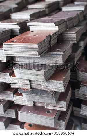 Metal semi-finished products - stock photo