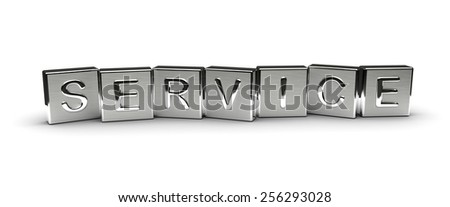 Metal Service Text - stock photo