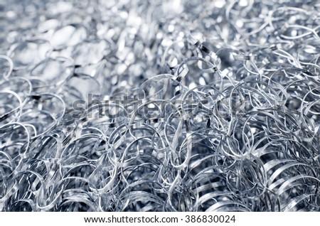 Metal shavings closeup background. - stock photo