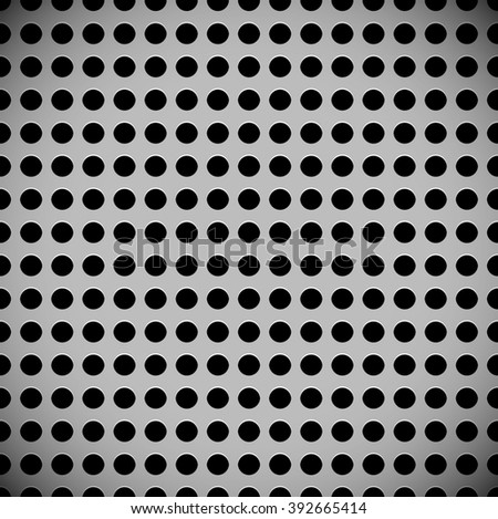 Metal sheet, surface pattern. Perforated, punched metal. - stock photo
