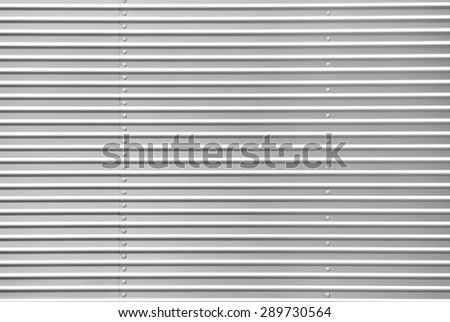 Metal sheet with bolts