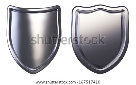 Metal Shields isolated. Clipping paths