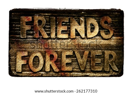 """Metal Sign """"Friends Forever"""" - stock photo"""