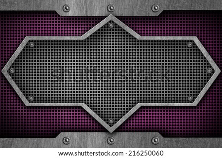 metal sign texture background - stock photo