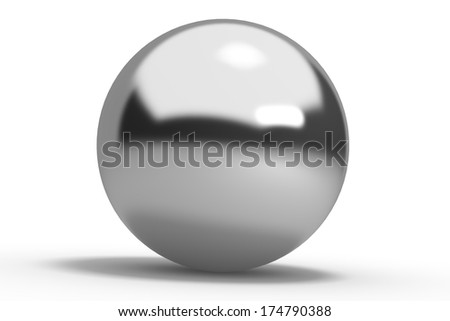 metal silver geometric shapes sphere Isolated on white background