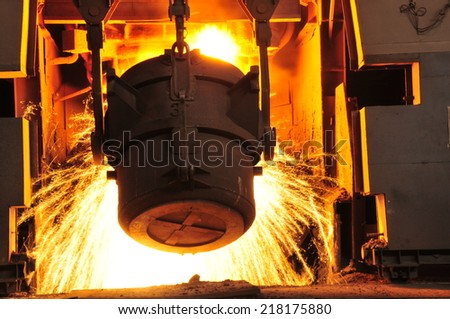 Metal smelting casting