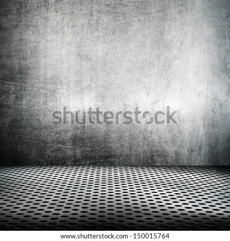 metal space background - stock photo