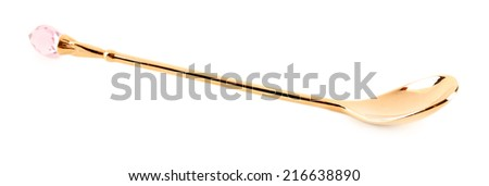 Metal spoon isolated on white