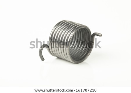 metal spring on a white background  - stock photo