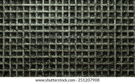 metal squared old - stock photo