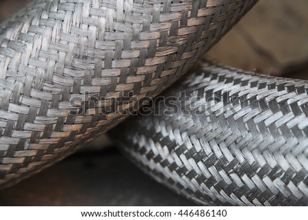 Metal stainless steel braid. Metal braided hose