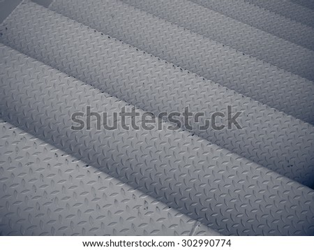 metal stairway - stock photo