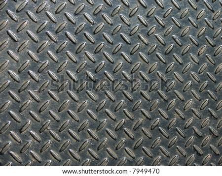 Metal stamping plate in black - stock photo