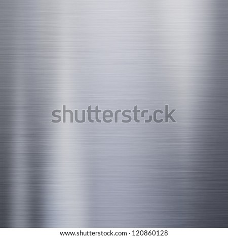 Metal steel background or texture with reflections - stock photo