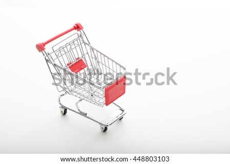 metal supermarket trolley