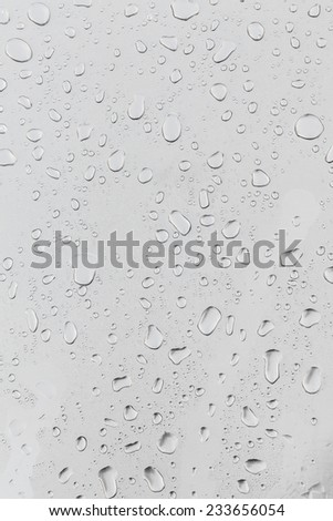 Metal surface covered in water drops, closeup.  - stock photo