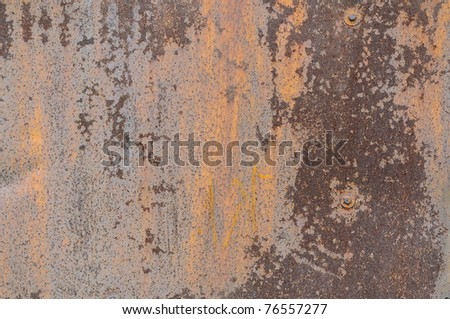 metal surface with a shabby old paint